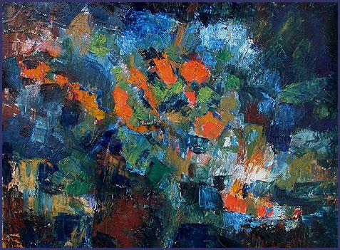 bloemen abstract geschilderd